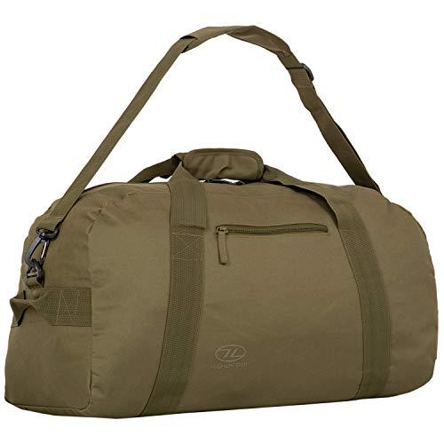 Highlander Cargo Bag Sac de Transport en Toile Robuste pour Voyage, 45 l Vert Olive