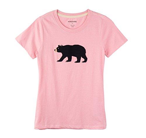 Hatley Bear Family Pyjamas Camiseta de Pijama, Rosa (Pink 650), Large para Mujer