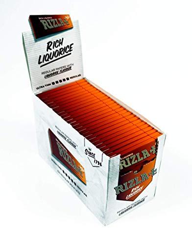 Rizla Zigarettenpapier, normale Größe von SOS, Lakritze, 25 Booklets