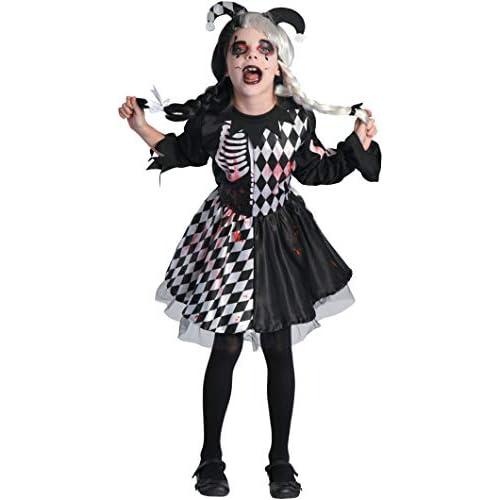 Costume bambina Horror Jester girl, 5-7 anni