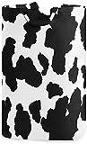 Canasta de lavandería de moda Navidad Vaca linda Estampado en blanco y negro Bolsa de lavandería Cesto de lavandería Paño de la canasta Ropa elegante para el hogar Bolsa de lavandería con asas
