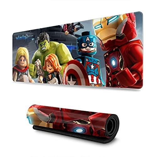 Le-go Marvels Avengers Yo-daClick To View - Alfombrilla de ratón antideslizante con base de goma, 31,5 x 30 cm