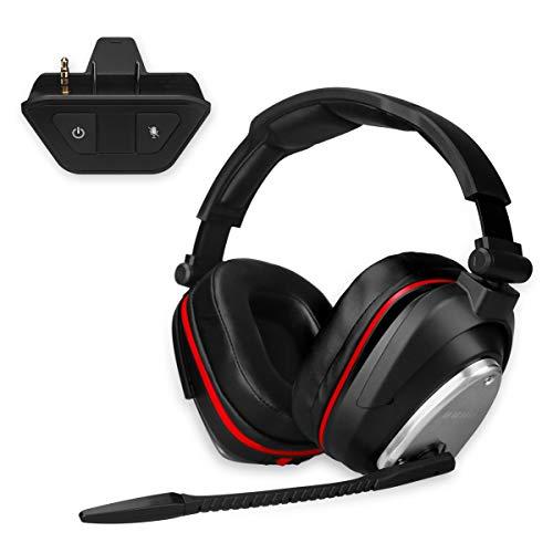 Auricularesn Gaming inalámbricos Gaming con Bass 7.1 Surround y Orejeras de Metal...