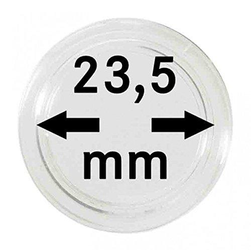 LINDNER Das Original Münzkapseln Innen-Ø 23,5 mm, 10er-Packung