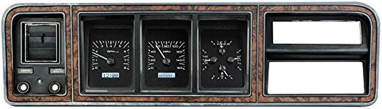 Dakota Digital Compatible with 73 - 79 Ford Pickup Truck VHX Analog Dash Gauge System Black Alloy White VHX-73F-PU-K-W