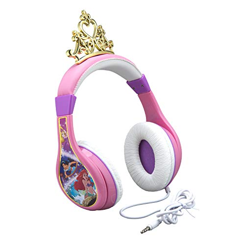 41AWWCYs0bL - Kids Headphones for Kids Disney Princess Adjustable Stereo Tangle-Free 3.5mm Jack Wired Cord Over Ear Headset for Children Parental Volume Control Kid Friendly Safe Perfect for School Home Travel