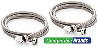 Washing Machine Hoses Burst Proof 6 Ft Stainless Steel Braided – 2 Pack