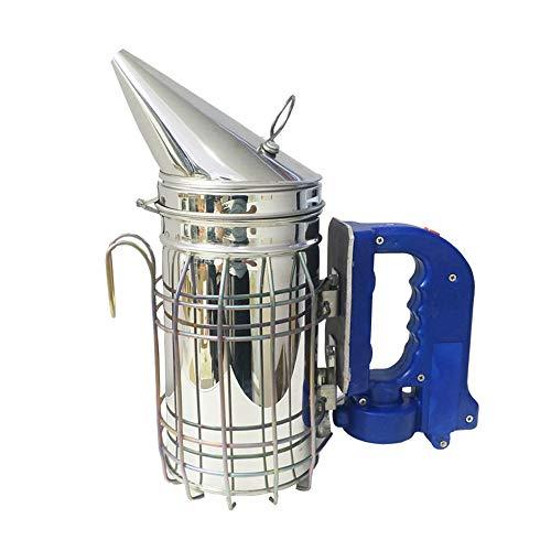 LYY Le Fumeur électrique de Ruche d'abeille électrique d'acier Inoxydable, Pointe d'apiculture Conduit automatiquement l'outil Professionnel d'abeille, Anti-brûlure + Double Alimentation