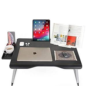 Cooper Mega Table [Mesa plegable XXL para Cama Ordenador portátil y sofá]| Soporte multifuncional Escribir, estudiar comer leer o guardar (Onyx Negro)