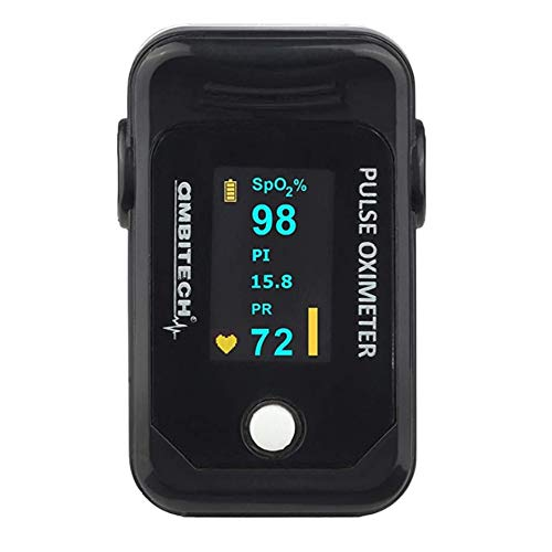 AmbiTech PHX-PO-02 High Accuracy Fingertip Pulse Oximeter with OLED Display ((1 YEAR WARRANTY))