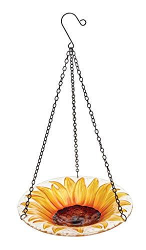 Gardman Zonnebloem bloem opknoping glas decoratieve wilde vogel bad A01462