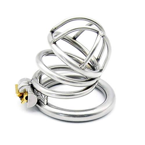 Chástity Dêvice Peenis Cage Lock Ring Chàstity Devicès for Men 304 Stainless Steel Super Breathable Smooth Material…