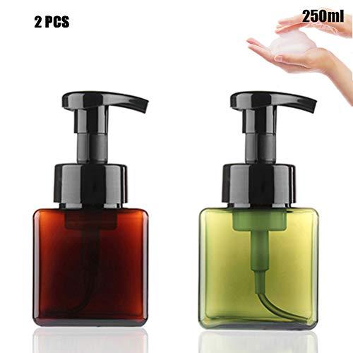 Sapphero 2 Stks 250ml Schuimende Zeep Dispenser Fles Facial Cleaner Foam Maker Fles Draagbare Reiszeep Schuimflessen