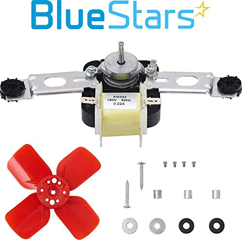 Ultra Durable 482731 Evaporator Fan Motor Kit by Blue Stars - Exact Fit for Whirlpool Kenmore Kitchenaid Refrigerators/Freezers - Replaces 0056721 0056801 1100473 PS376645 AP3110929 R0950025