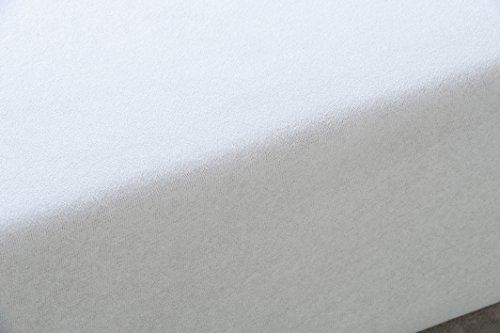 Tural – Funda de Colchón Elástica Rizo de Microfibra Tacto Seda. Talla 135 x 190/200 cm   Protector de colchón con Cremallera   para colchones de 30 cm de Alto