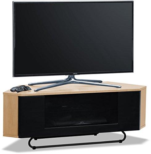 Centurion supporta Hampshire corner-friendly Gloss Oak fascio-thru remoto amichevole porta TV a schermo piatto cabinet 66- 127cm