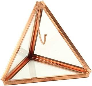 Koyal Wholesale Geometric Glass Ring Box, Rose Gold Triangular Pyramid Ring Holder, Wedding Ring Bearer Glass Gift Box, Keepsake Wedding Ring Holder, Proposal Box, Jewelry Box, Ring Display Case