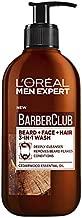 L'Oréal Paris Men Expert Barber Club 3-in-1 Beard + Face + Hair Wash 200ml