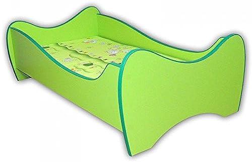 Kinderbett Curly inkl. Rollrost + Matratze 8016cm   Grün Jugendbett Bettliege Einzelbett Kinderzimmer Bett Bettgestell Kinderm l
