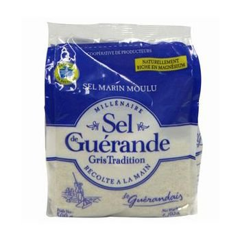 ゲランドの塩/ 細粒塩/ セル・マリン(細粒)/Sel de Guerande Sel marin moulu 【ラージサイズ/500g】/スパイス・ハーブ・香辛料・調味料