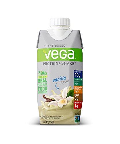Vega Protein+ Ready to Drink Protein Shake, Vanilla, 11floz, 12 Count