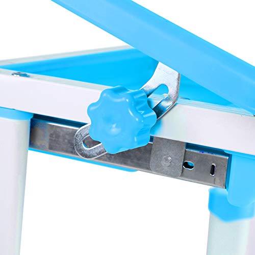 Escritorio de estudio de niños azules, hecho de PP, ABS, PE, acero, calidad de la densidad Marco de acero de la inclinación de escritorio para mantenerse al día con el rápido crecimiento del niño o el