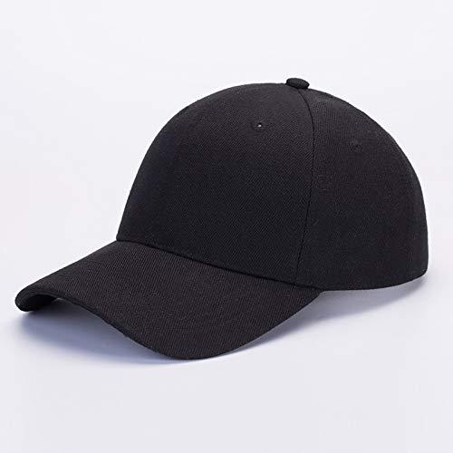 sdssup Sombrero de ala Plana Bordado Versión Coreana de la Gorra de béisbol Gorra Pescador Hip-Hop Hip-Hop Sombrero Negro L (58-60cm)