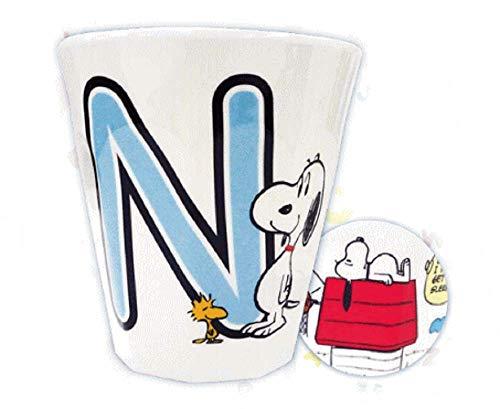 ティーズファクトリー イニシャルメラミンカップ スヌーピー N 270ml SNTS-031