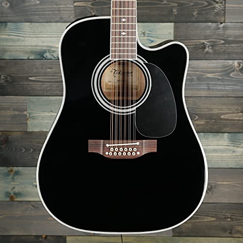 Takamine EF381SC 12-String Dreadnought Acoustic-Electric Guitar with Hard Case