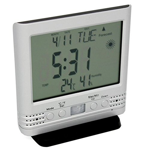 Lawmate 1080P HD Clock Weather Station Thermometer Covert Camera PV-TM10FHD