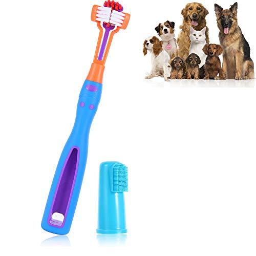 HJK Cepillo de Dientes para Perro, Elikliv Cepillo de Dientes para Mascotas, para el Mal Aliento, Cuidado de los Dientes para Perros pequeños, medianos y Grandes