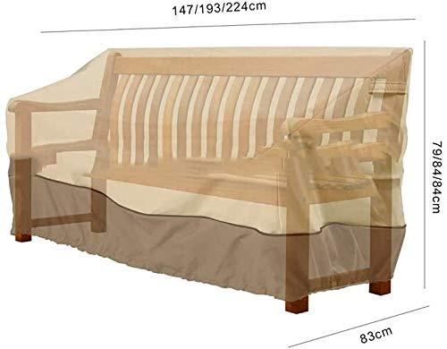 AsiaCreate Housse de Causeuse de Patio, Housses de Banc imperméables pour l'extérieur, Housse de canapé de Salon Deep Lawn, 57,9\