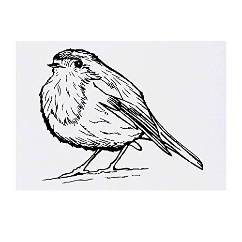 Azeeda Large 'Cute Robin Bird' Temporary Tattoo (TO00023664)
