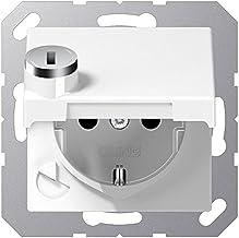 JUNG ES 1520 KI Tipo F Acero inoxidable caja de tomacorriente Caja registradora