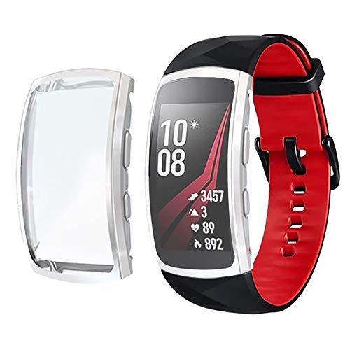 PANGTOU Funda para reloj Samsung Gear Fit 2 Pro de cobertura completa de TPU