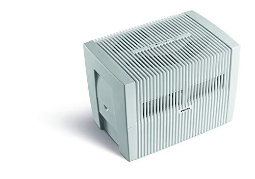 Venta Luftwäscher Original LW45, Luftbefeuchtung und Luftreinigung (bis 10 µm Partikel) für Räume bis 55 qm, Weiß-Grau