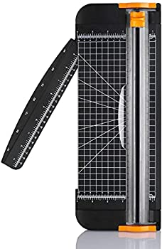 Paper Cutter A4 Paper Trimmer Titanium Scrapbooking 12 inch with Automatic Security Safeguard and Side Ruler for Scrapbooking Coupon Craft Paper Cardstock Label and Photo