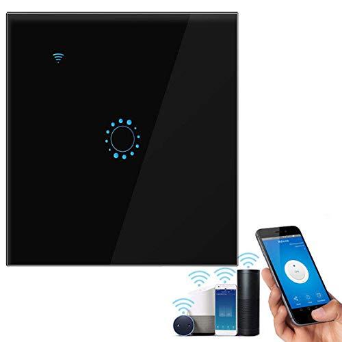 leegoal Alexa Lichtschalter, Touch Lichtschalter Kompatibel mit Alexa [Echo, Echo Dot] und Google Home Glas Touchscreen Touch Panel, Sprachsteuerung, Zeitfunktion, berlastschutz Wireless Wandschalter