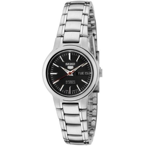 Seiko SYME43 Seiko 5 Reloj automático de Acero Inoxidable con Esfera Negra para Mujer