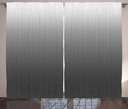 ABAKUHAUS ombre Gordijnen, Smoke Fog Futuristische, Woonkamer Slaapkamer Raamgordijnen 2-delige set, 280 x 175 cm, Donkergroen