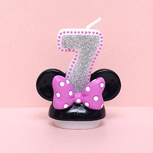 JLWS Creative Scented Birthday Weddings Art Candles Digits Cartoon Flameless Candle Cake for Children Gifts Happy Birthday,7