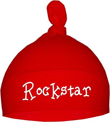 KLEINER FRATZ Rockstar - Gorro para bebé (talla 12-36 meses), color rojo