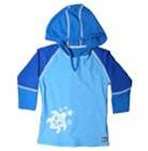 Banz Baby Blue UV50 protection solaire à manches longues à capuche (6–12 mois)