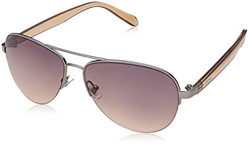 Fossil Women's FOS3062s Aviator Sunglasses, RUTHENIUM NUDE, 57 mm
