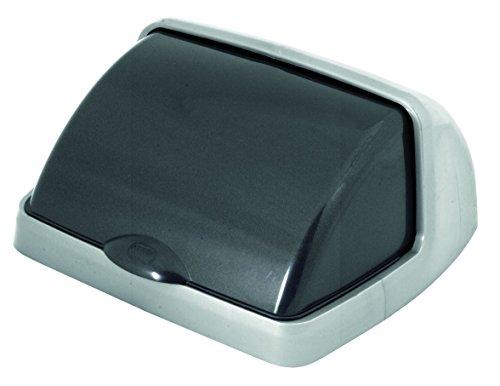 Tapa Roll Top para cubo de basura, 25L, gris metalizado