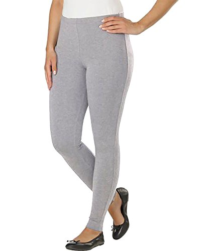 Kirkland Signature Ladies' French Terry Leggings (Small, Light Gray)