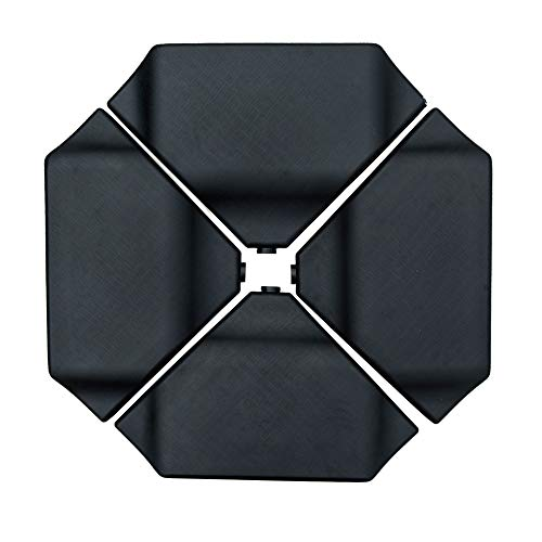 Abba Patio 4Pcs Offset Umbrella Base Plastic Cantilever Base Weights Plate Set, Water&Sand Filled...
