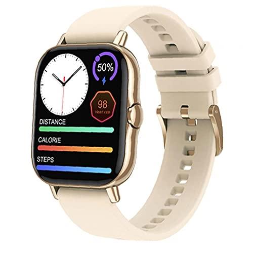 Smart Watch-Touch-Screen-Sport-Tracker.Smart-Uhr 1.78inch Voll-Touch-Bildschirm Bluetooth-Aktivität Tracker-Armband mit Anrufbenachrichtigung Gold
