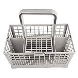 WBTY - Cesta universal para cubiertos para lavavajillas, varios compartimentos, organizador de cubiertos para Bosch/Hotpoint/Neff/Siemens/Smeg