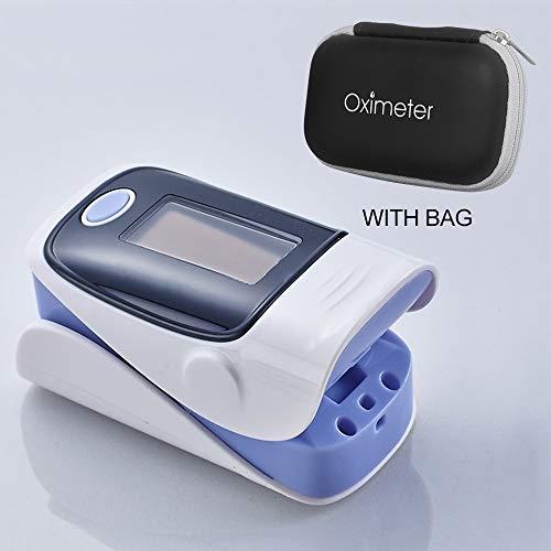 XFC-HE, Tragbare Pulsoximeter Finger Medizinisches Gerät OLED Blut-Sauerstoff-Sättigung Saturometro Startseite Herzfrequenz-Blutdruckmessgerät (Farbe : Rose Red)